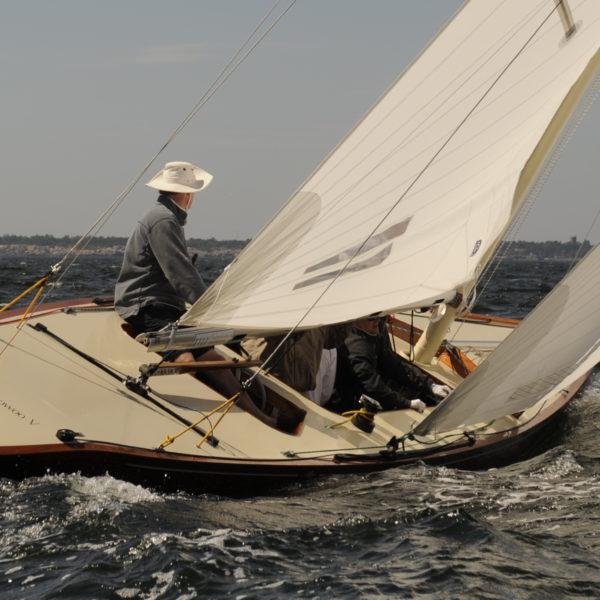 Sailing boat underway