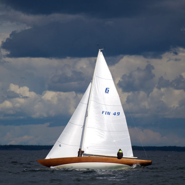 Sailing boat underway