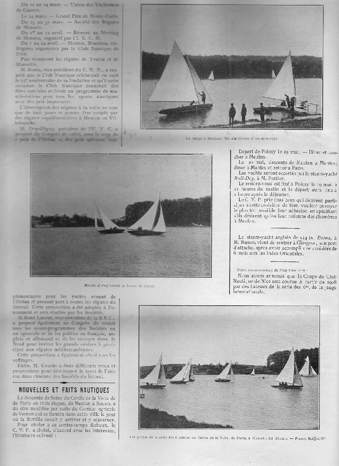 Le Yacht, May 1907