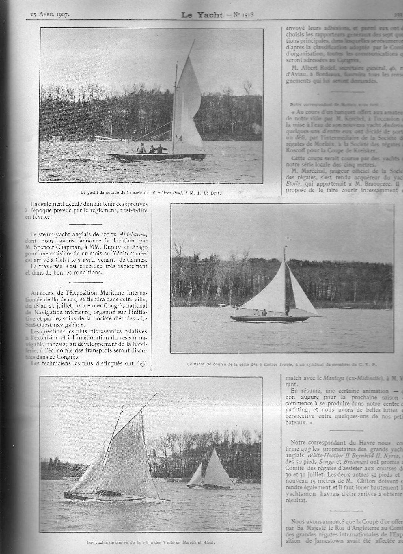 Le Yacht, April 1907