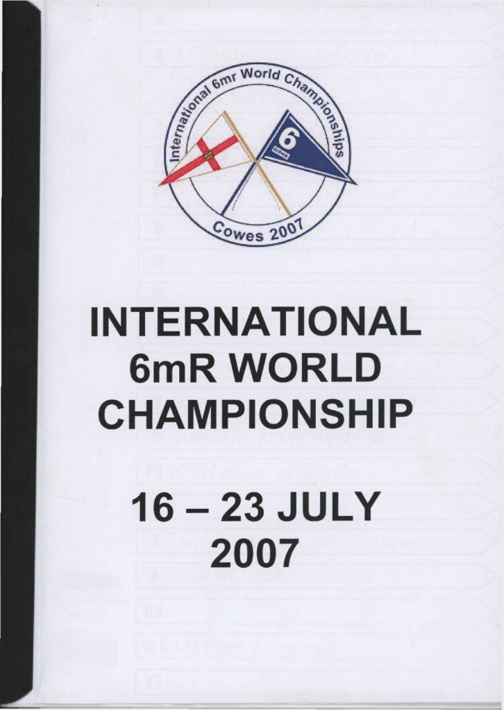 2007 World Championship booklet