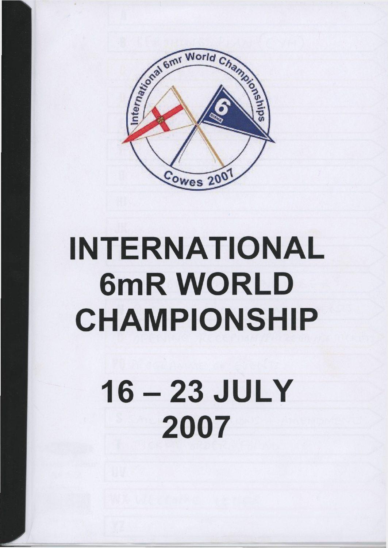 2007 World Championship booklet