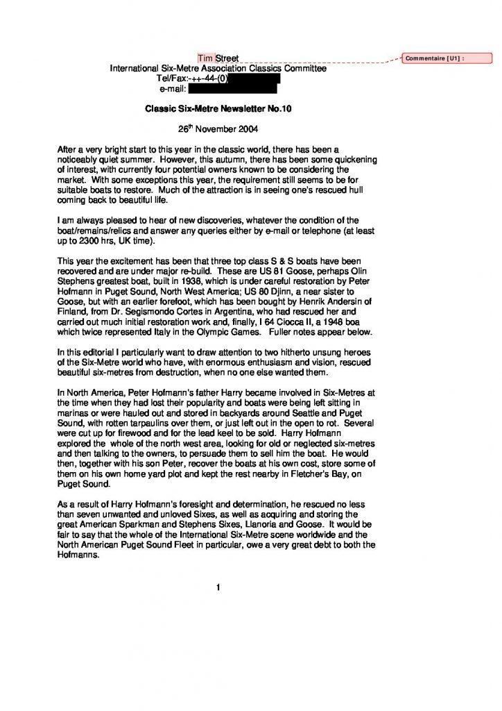 Newsletter no.10, 2004