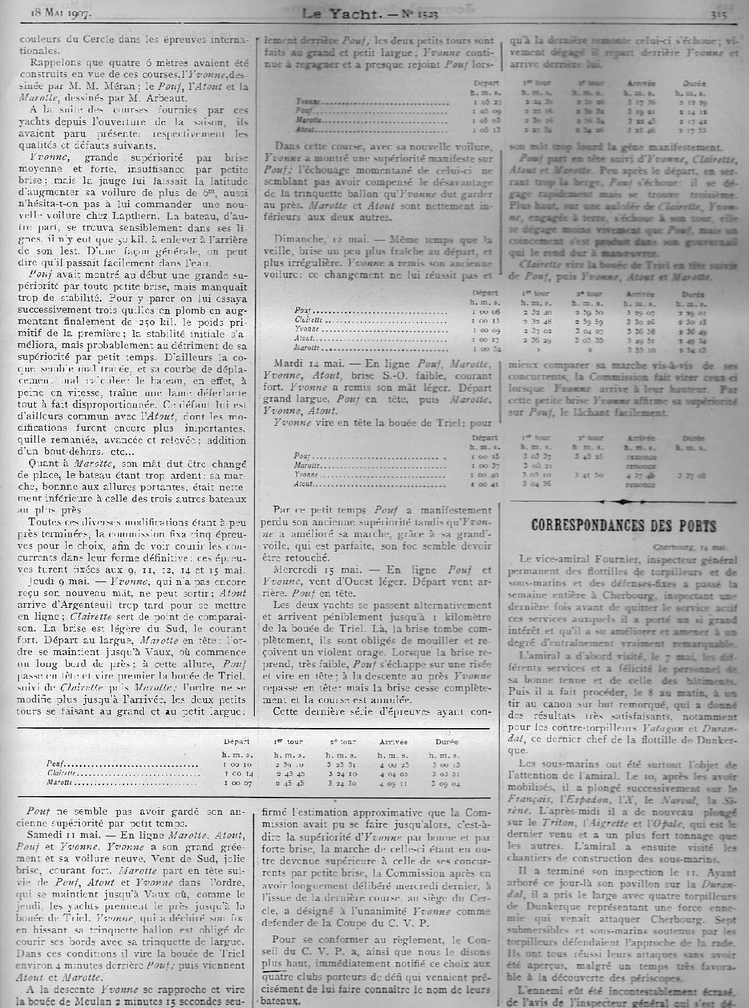 May 1907 Le Yacht