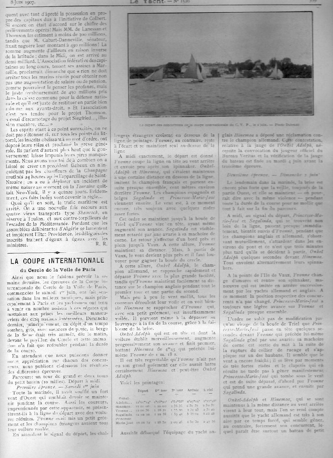 June 1907 Le Yacht