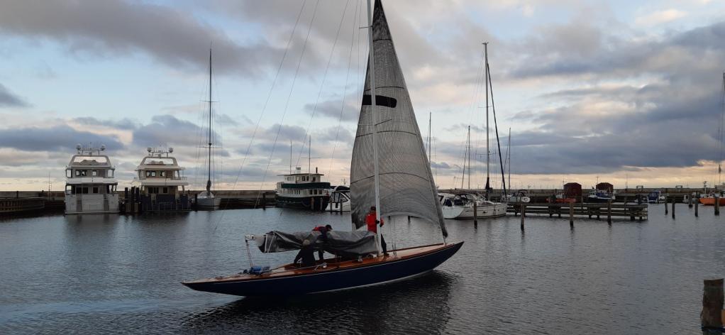 sailing boat in a marina